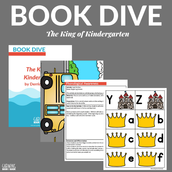 BOOK DIVE for The King of Kindergarten