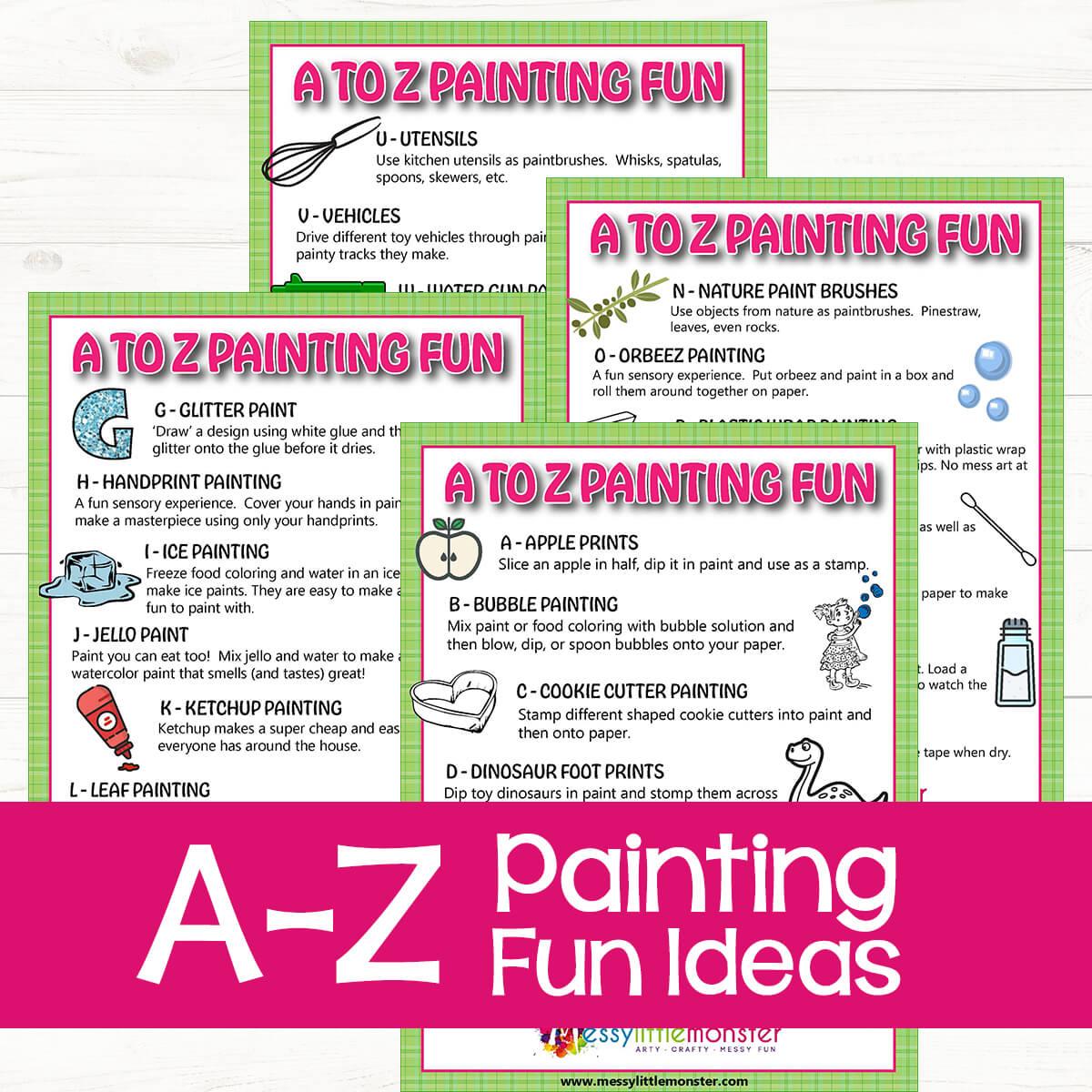 Preschool A-Z Painting Fun_Ideas