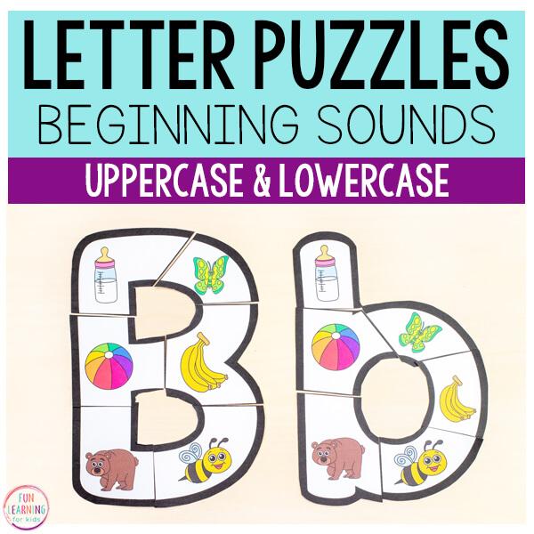 Preschool Alphabet Letter Puzzles TpT