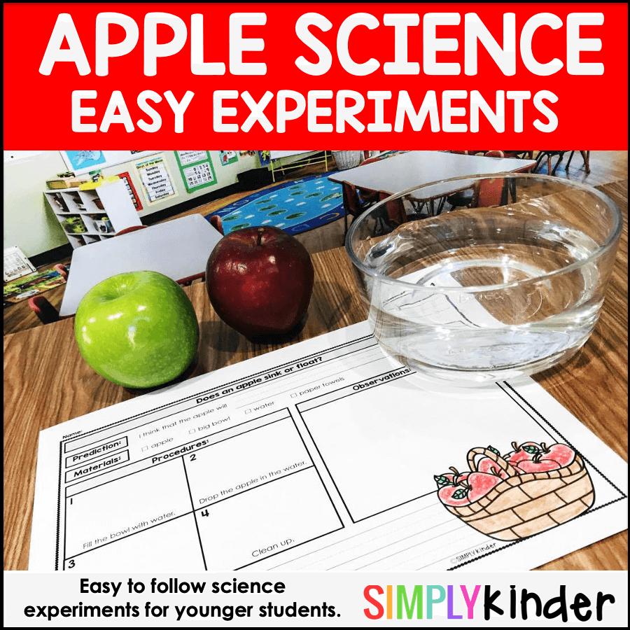 Preschool Apple Science