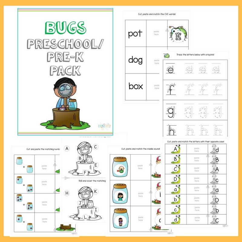Preschool Bugs Pre-k Pack Square