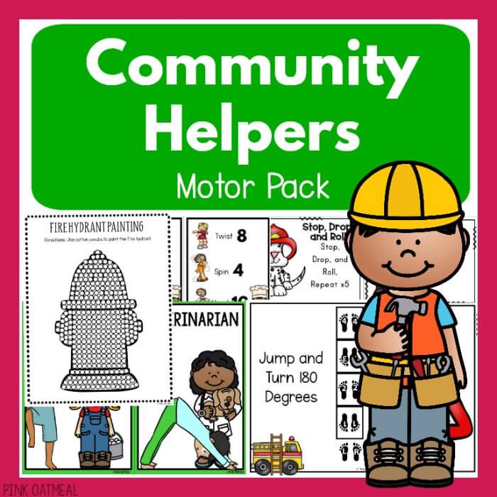 Preschool Community Helpers Motor Pack Cover