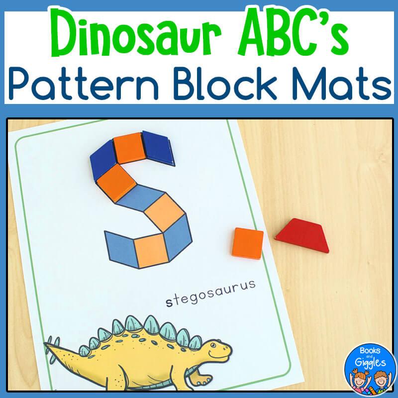 Preschool Dinosaur-pattern-block-abc-COVER