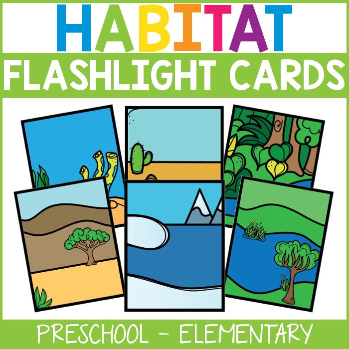 Preschool Habitat Flashlight Cards