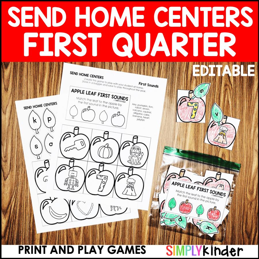 Preschool Send Home Centers