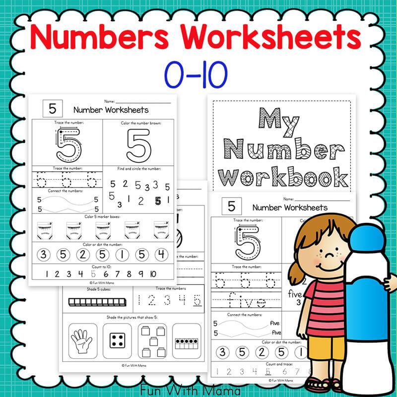 Preschool number-worksheets-0-10-funwithmama