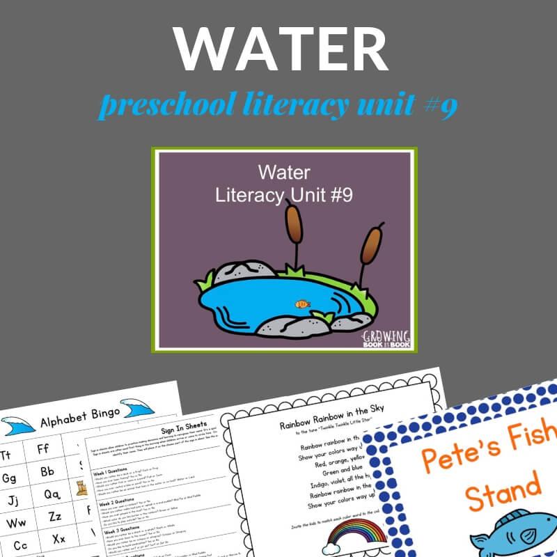 Preschool water lesson plans for preschool