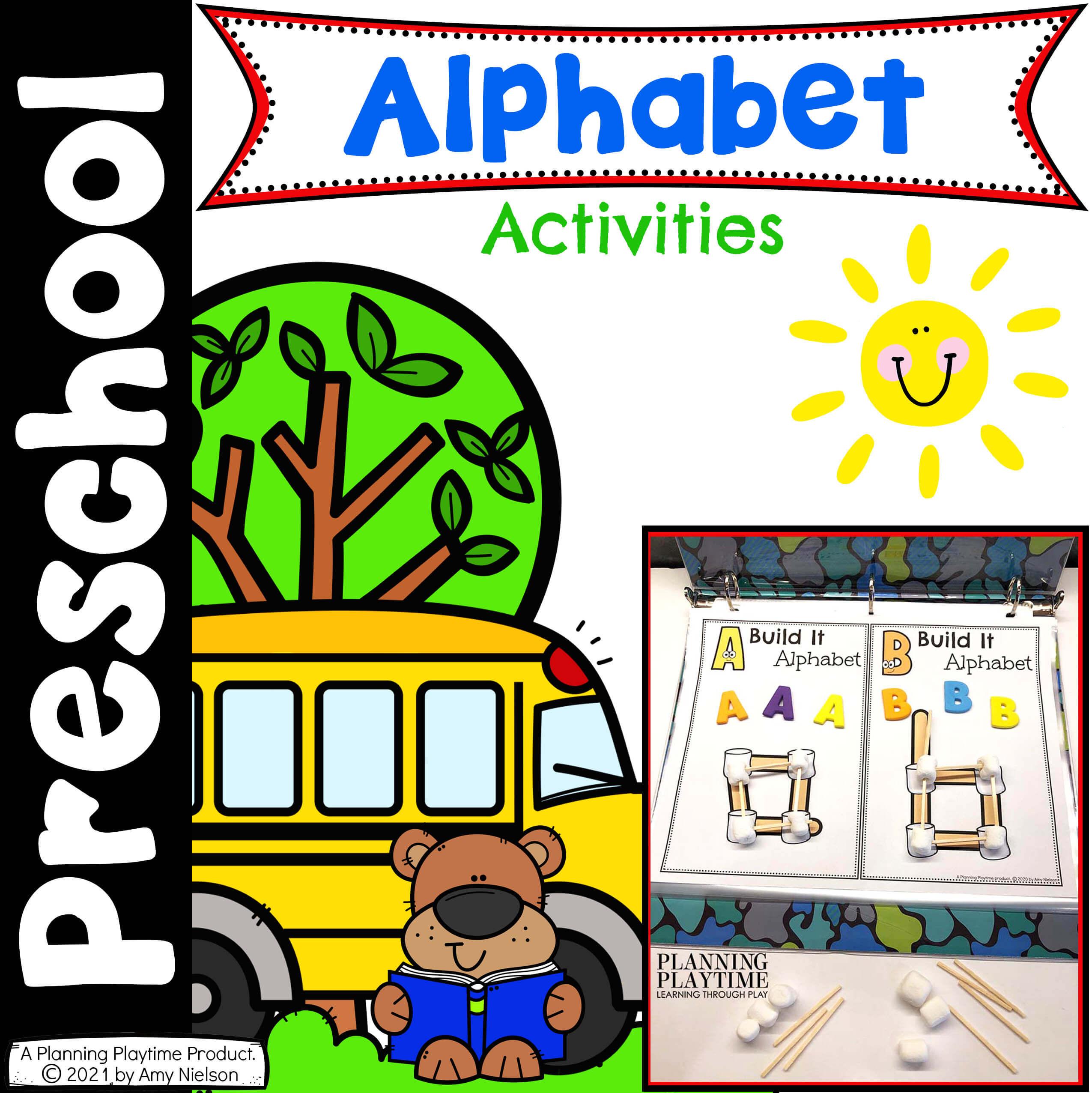 Alphabet Activities - Preschool Bundle 2021 Cover 2