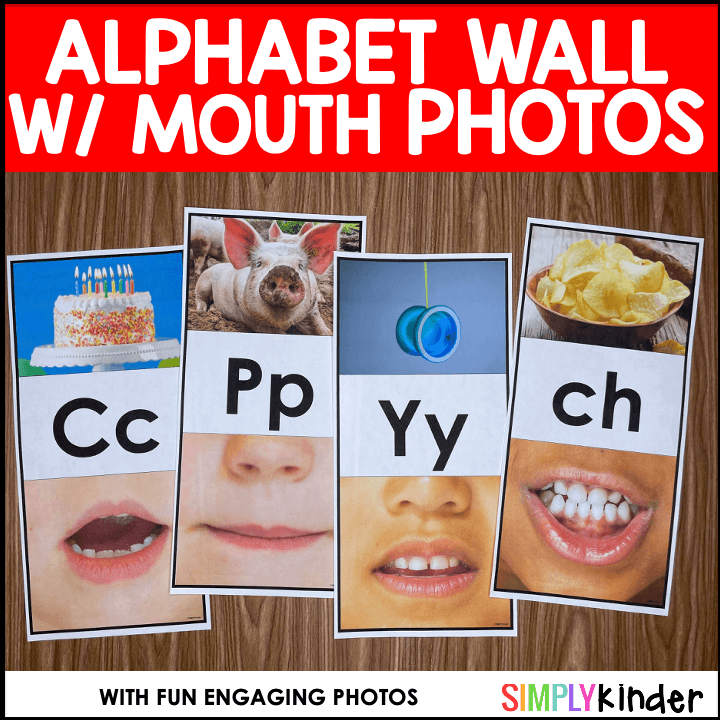 Alphabet Wall Cards with Mouth Pictures