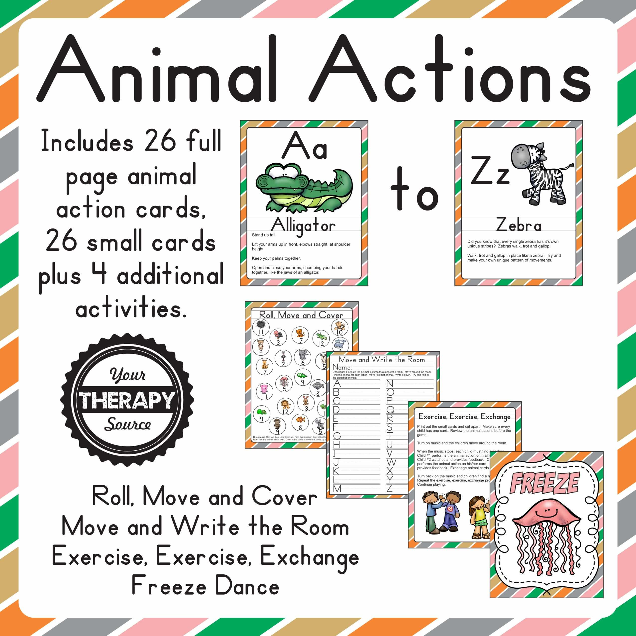 Animal Action A to Z Square Cover