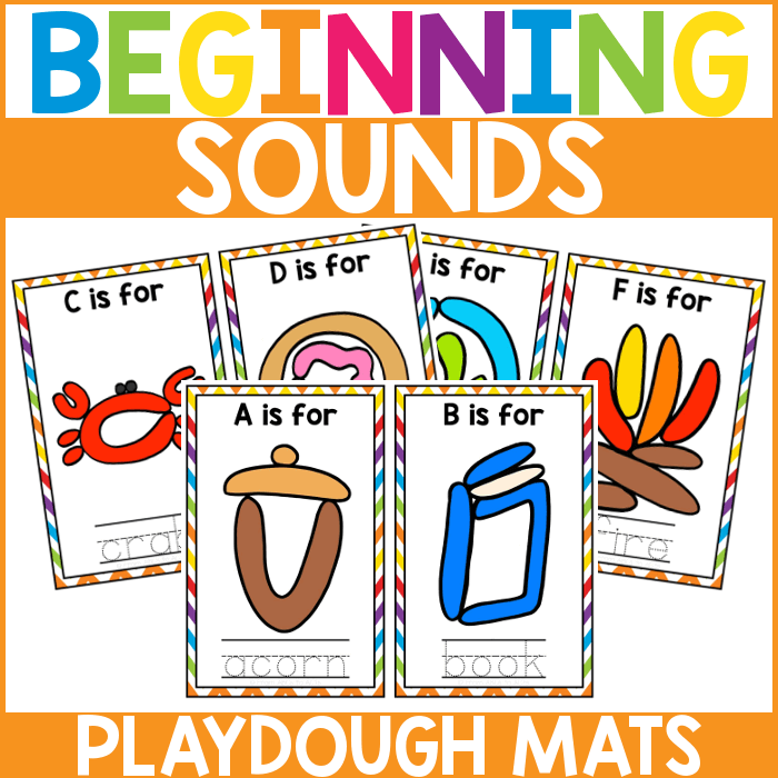 Beginning Sound Playdough Mats