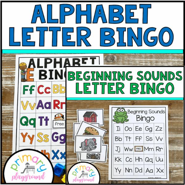 Alphabet and Beginning Sounds BINGO