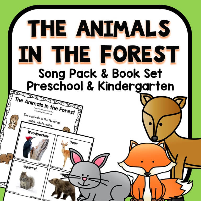 animals in the forest song and books