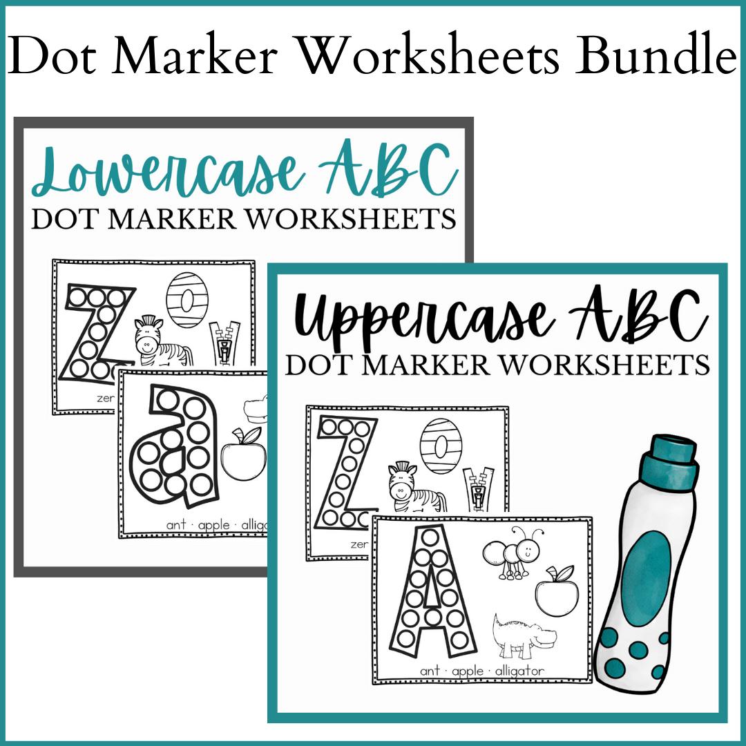 Dot Marker Worksheets Bundle