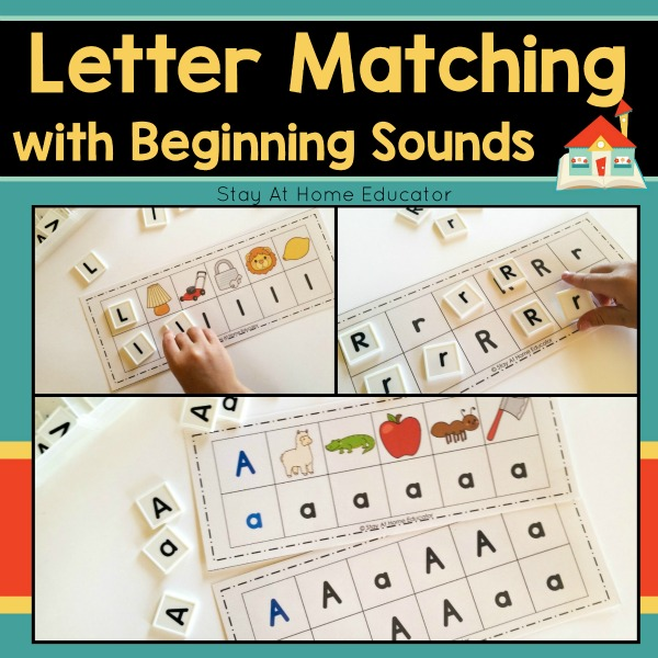 Letter Matching with Beginning Sounds cover