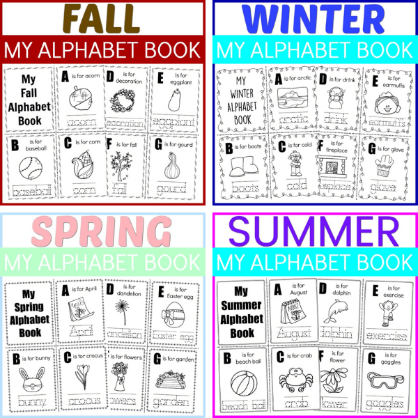 Seasons Alphabet Book Pack