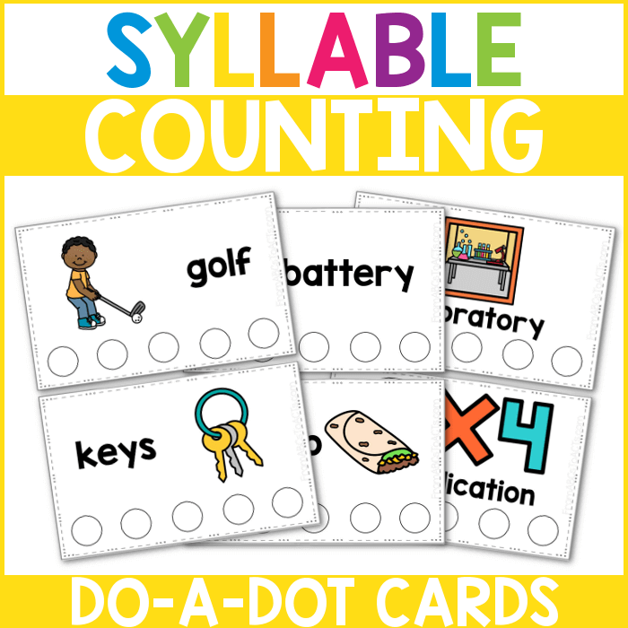 Syllable Counting Dot Cards
