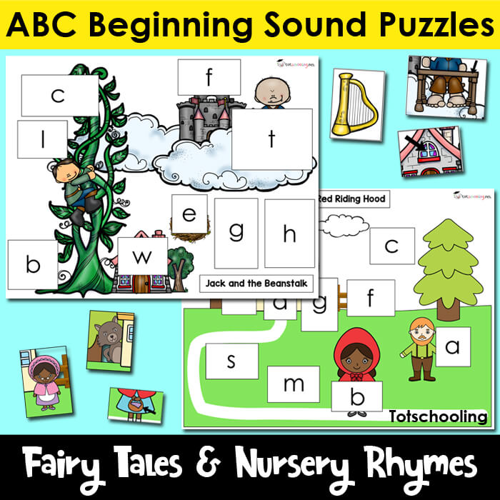 Fairy Tales _ Nursery Rhymes ABC Beginning Sound Puzzles