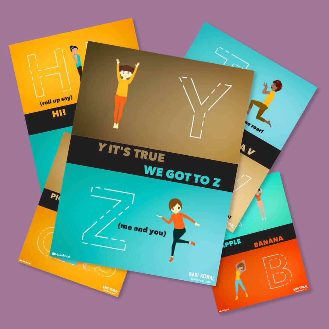 Yoga alphabet cover