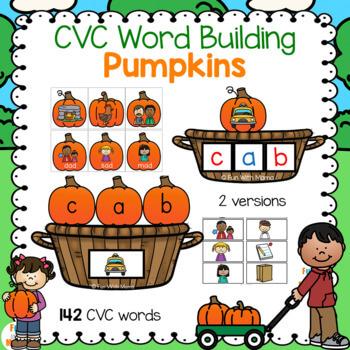 CVC Word Building pumpkins printable