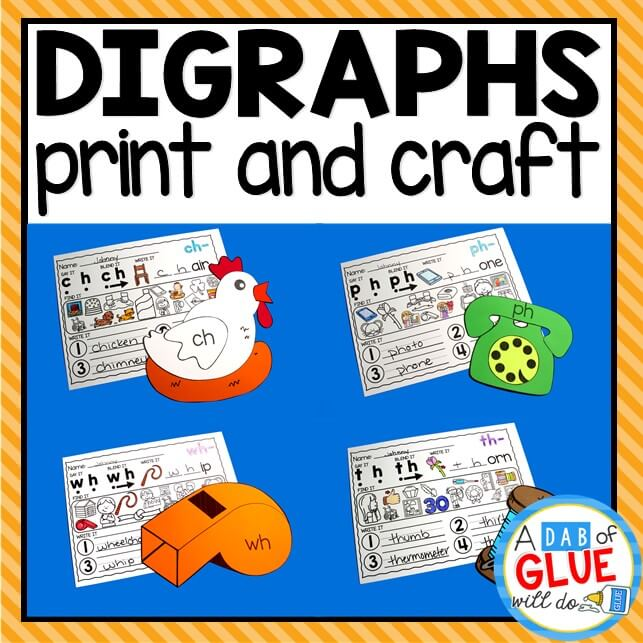 Digraphs printable and craft activities