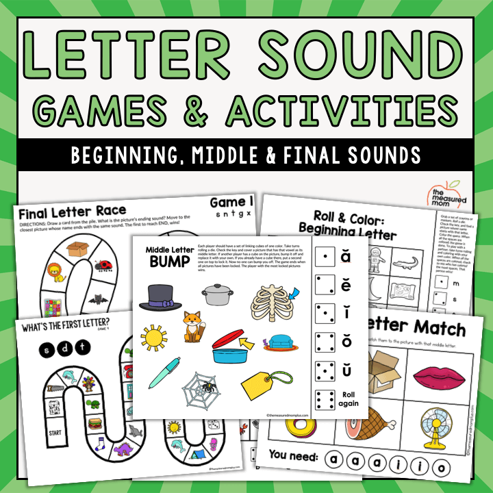Letter sound games and activities