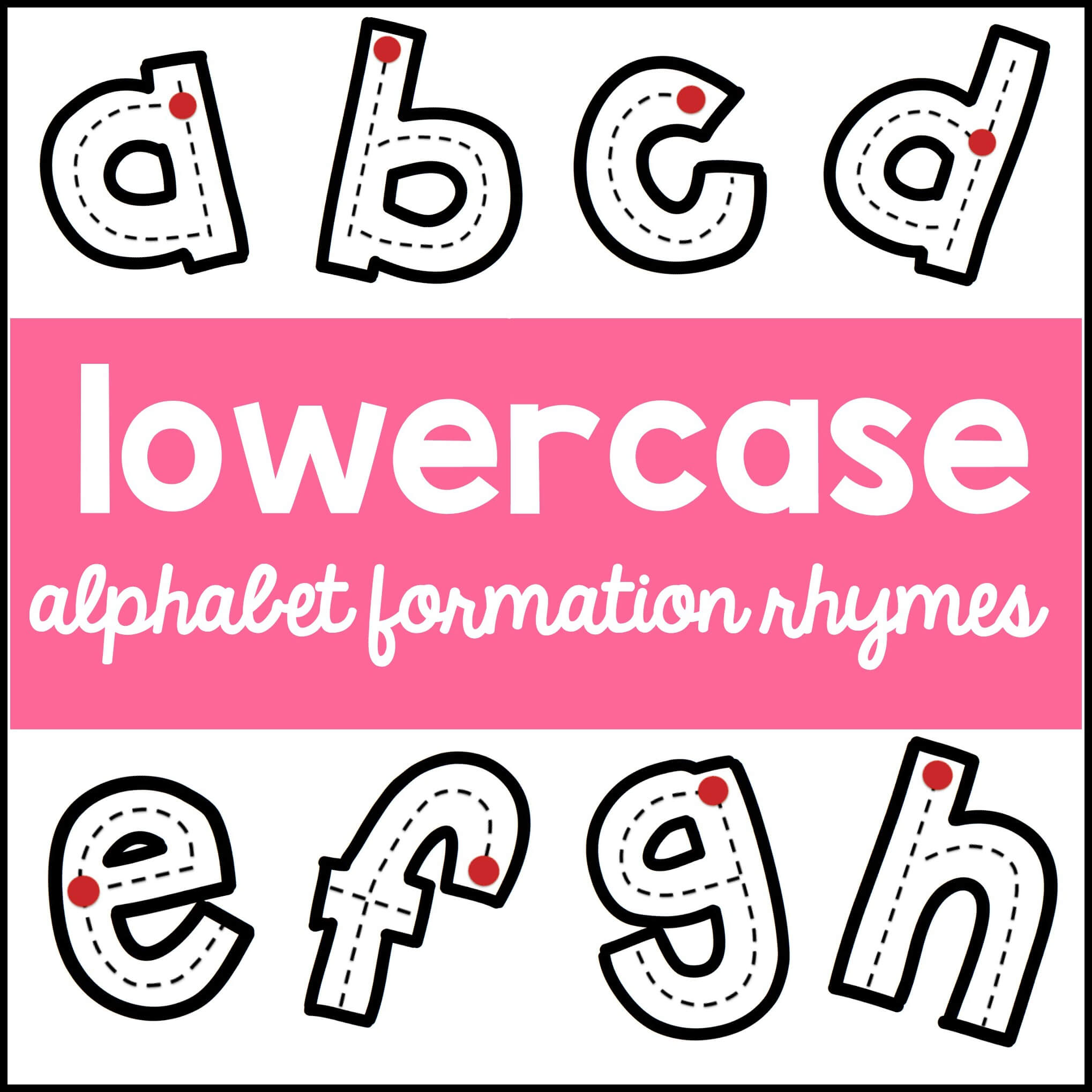 Lowercase alphabet rhymes